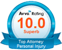 Avvo Rating 10.0 - Top Attorney - Personal Injury